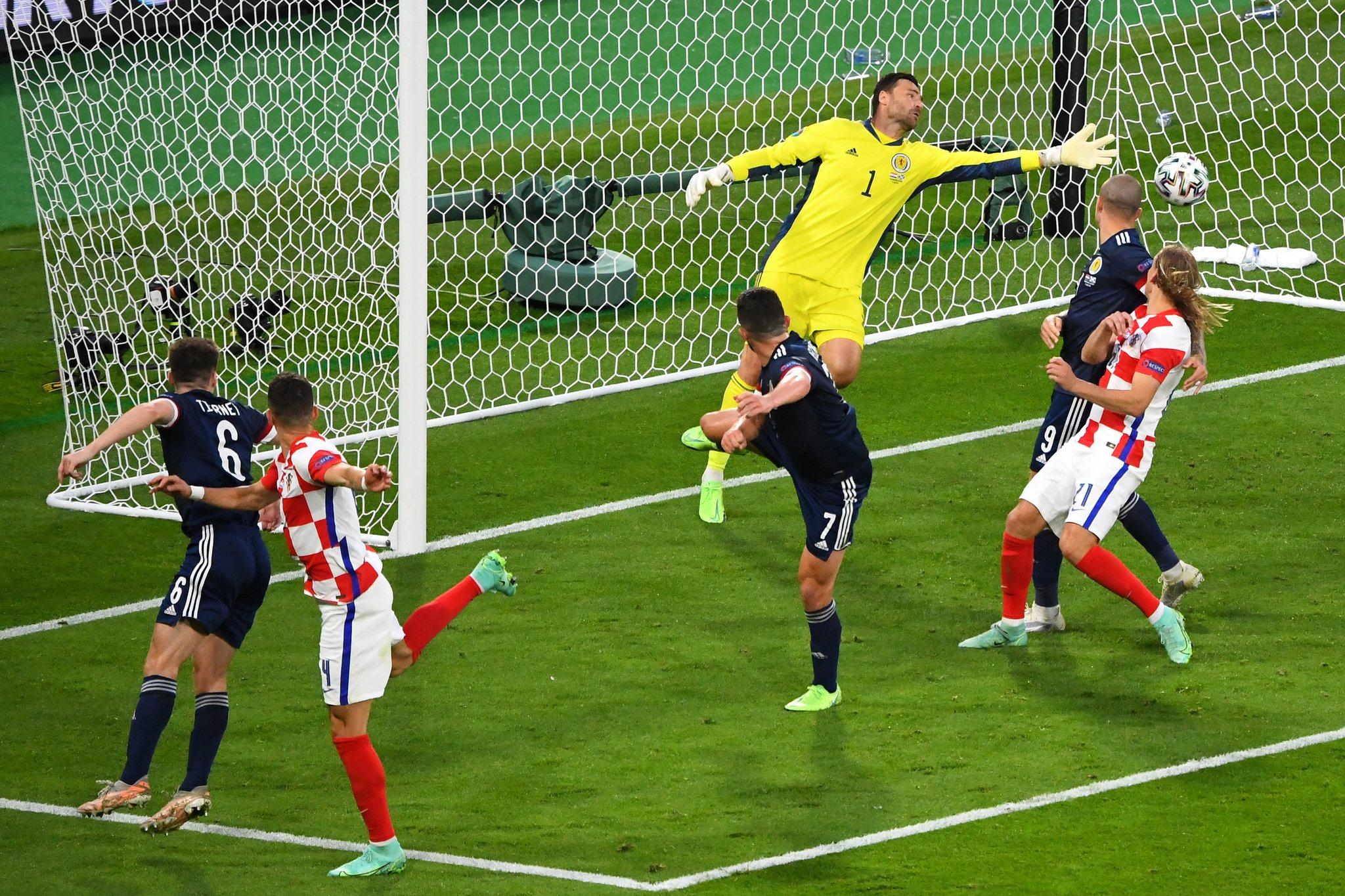 La Croatie décroche son billet pour les huitièmes de finale de l'Euro et élimine l'Écosse