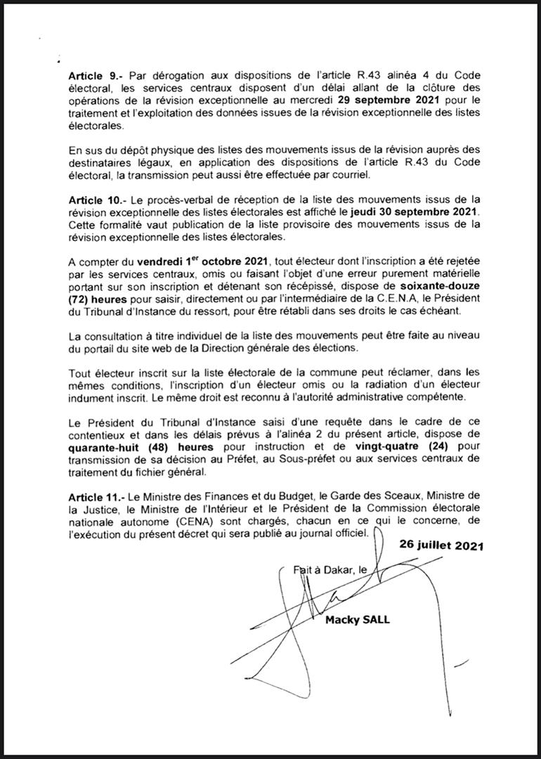 Locales 2022: la révision des listes électorales se déroule du 31 juillet au 14 septembre (décret)