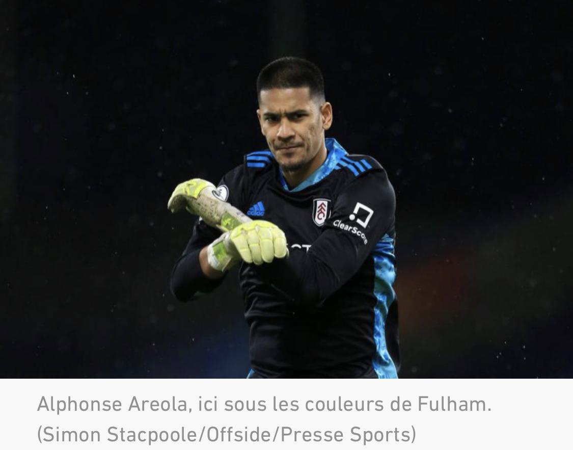 Transferts : Alphonse Areola (PSG) prêté à West Ham