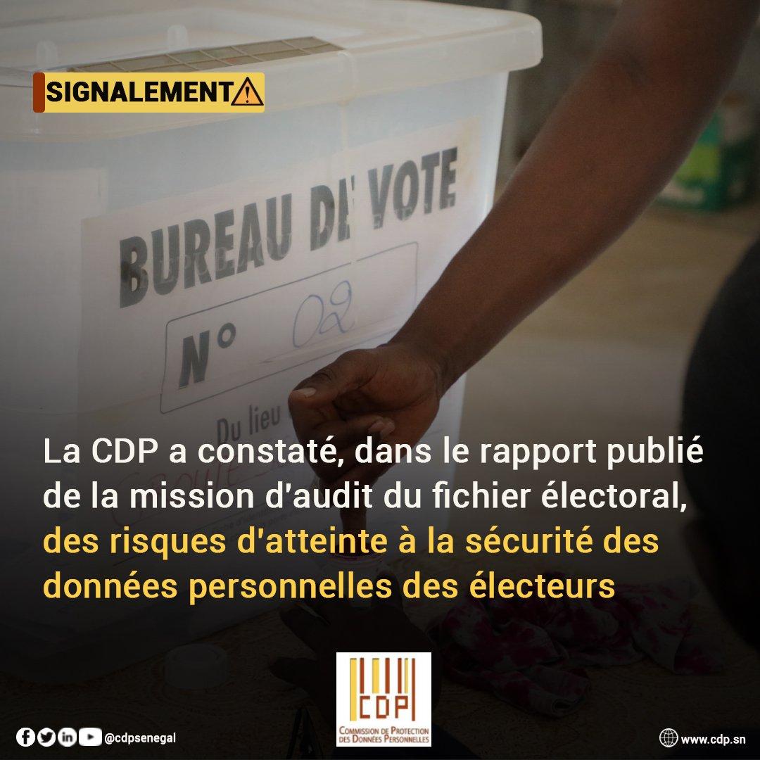 Fichier électoral et données personnelles des Sénégalais: la CDP a indiqué ses inquiétudes à la DAF