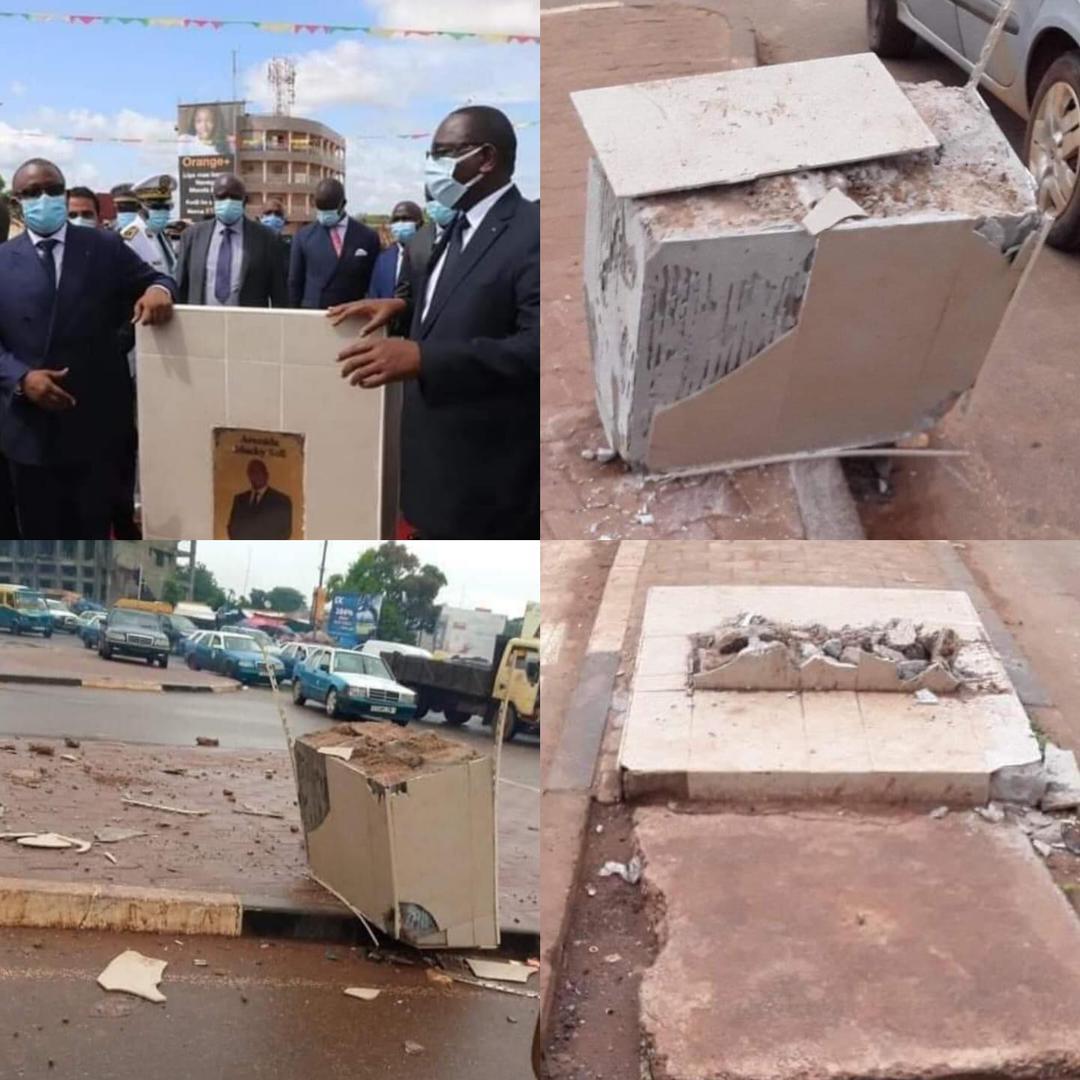 Guinée_Bissau: Le panneau de l'avenue Macky Sall détruit