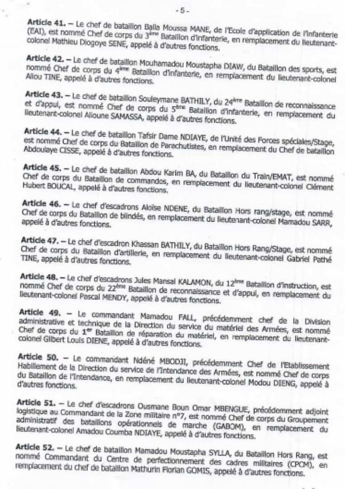 Macky Sall opère un vaste chambardement dans les rangs des officiers supérieurs de l'Armée (DOCUMENTS)