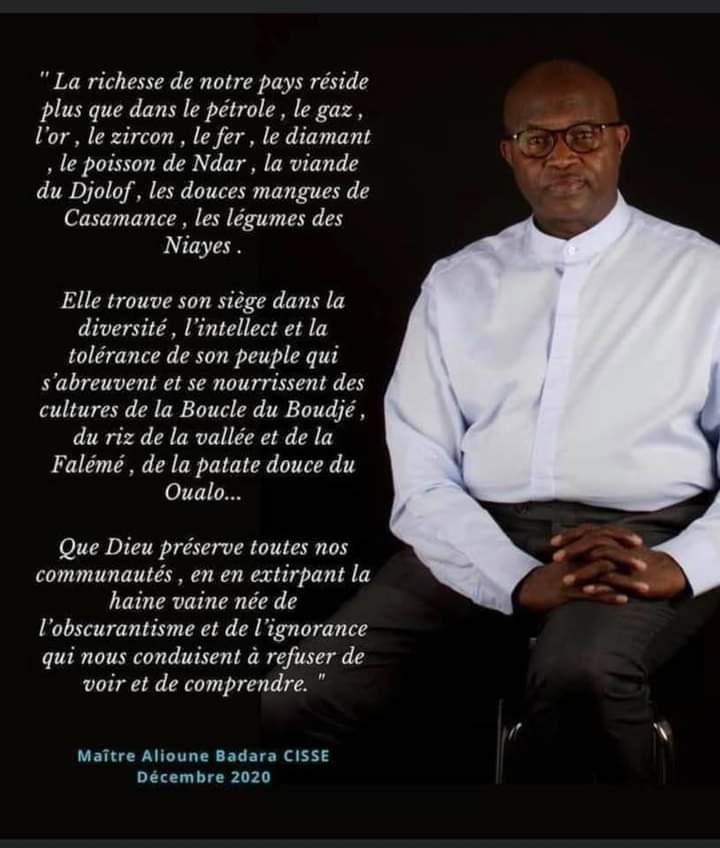 Décès d'Alioune Badara Cissé: Parcours et état de service d'un homme droit