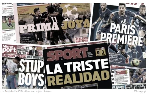 Le trio Messi-Neymar-Mbappé fait saliver la planète foot, la presse anglaise fracasse un Manchester United ridicule
