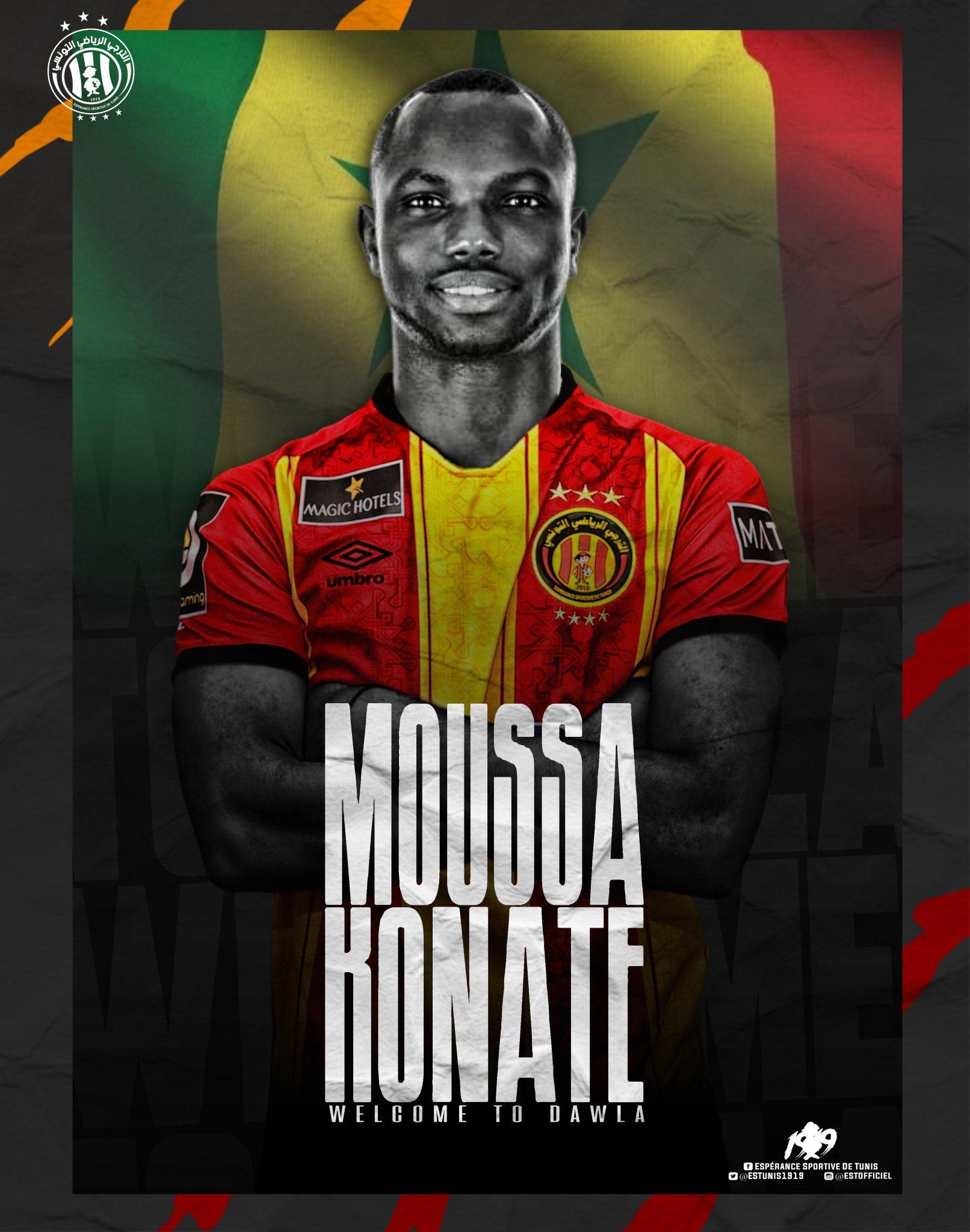 Moussa Konaté prêté à l'Esperance de Tunis