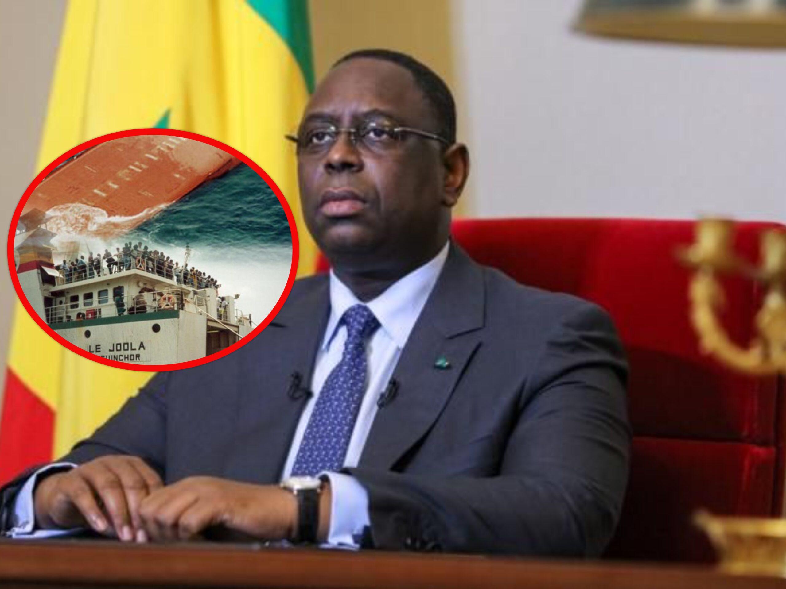"""20e anniversaire du naufrage du Joola: Macky annonce un """"musée mémoire"""" et un """"programme consensuel"""" avec les familles des victimes"""