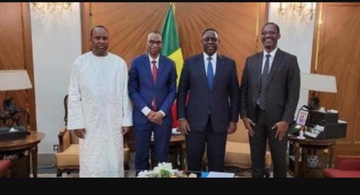 Macky Sall reçoit en audience Bibi, Mame Boye Diao et Moussa Baldé