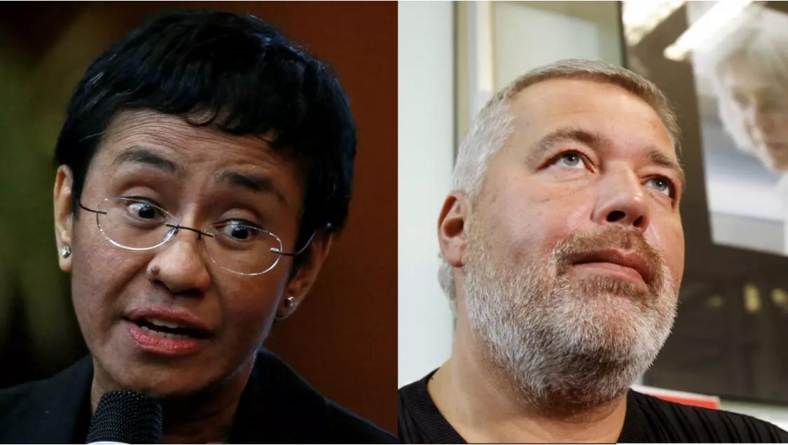 Le prix Nobel de la paix 2021 attribué aux journalistes Maria Ressa et Dimitri Muratov