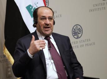 Le Premier ministre irakien Nuri al-Maliki, lors d'un forum sur la transition en Irak, à Washington, le 31 octobre 2013. REUTERS/Yuri Gripas