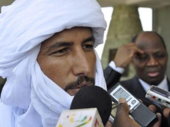 Bilal Ag Achérif, chef de la rébellion touarègue du MNLA, reçu à Paris, le 23 novembre 2012. AFP PHOTO/AHMED OUOBA
