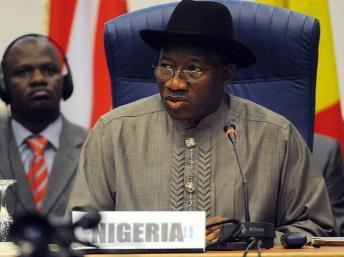 Le président Nigerien Goodluck Jonathan AFP PHOTO / PIUS UTOMI EKPEI