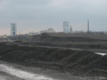 Mine de charbon à ciel ouvert à à Bielszowice, en Pologne. Photo: Ludek, source: Wikipédia