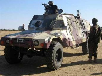 Des soldats tchadiens près d'Abéché. (Photo : AFP)