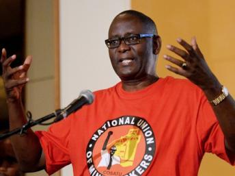 Zwelinzima Vavi, secrétaire général de la Cosatu AFP PHOTO/ALEXANDER JOE