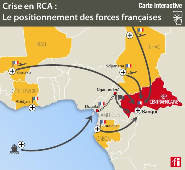 Centrafrique: à Douala, les soldats français prêts à prendre la route de Bangui