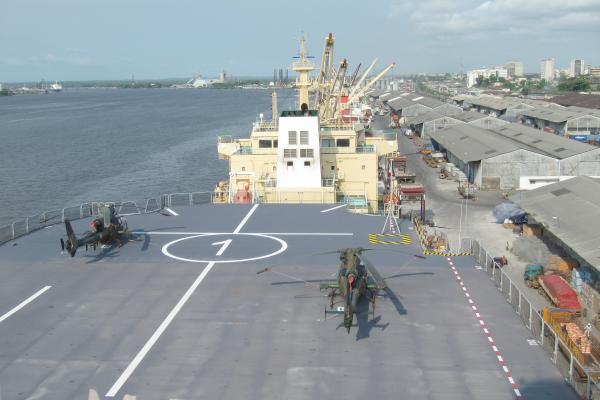 Les hélicoptères «Gazelle» attendent leur ordre de déploiement en République centrafricaine. RFI / Olivier Fourt