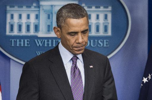 Le président Barack Obama rend hommage à Nelson Mandela, le 5 décembre 2013 à la Maison Blanche