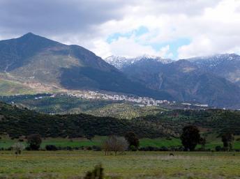Vue des montagnes du Rif près de Chefchaouen. wikipédia