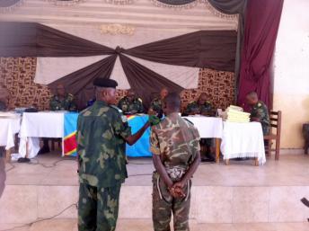 A Goma, lors de la deuxième audience dans le procès de 39 militaires accusés de viols massifs commis à Minova en novembre 2012. Photo : RFI / Léa-Lisa Westerhoff