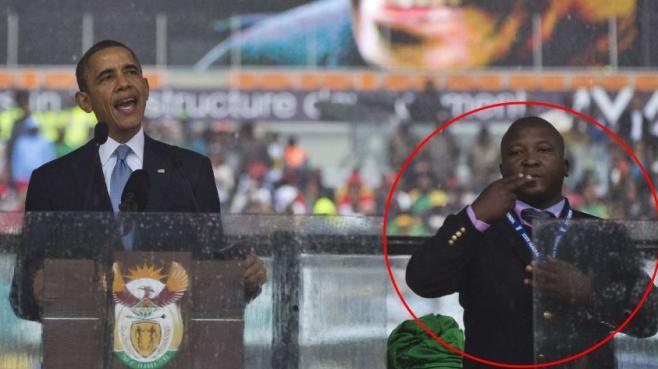 Hommage à Mandela : l'interprète décrié affirme avoir été victime d'une crise de schizophrénie