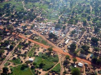 Vue aérienne d'une partie de Juba, la capitale du Sud-Soudan. (CC)/USAID/Wikipédia