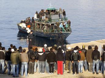 L'île de Lampedusa. REUTERS/Alessandro Bianchi/Files