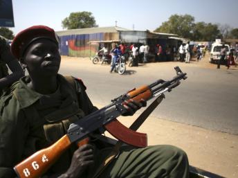 Un véhicule de soldats de la SPLA, à Juba, le 21 décembre 2013. REUTERS/Goran Tomasevic