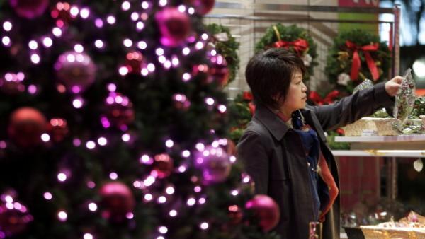 Décorations de Noël dans les rues de Tokyo, 5 décembre 2013. Kiyoshi Ota/Bloomberg via Getty Images