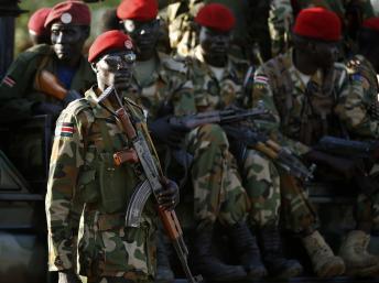 Des soldats sud-soudanais à Juba, le 20 décembre 2013. REUTERS/Goran Tomasevic