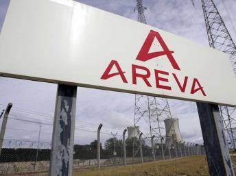 Logo d'Areva. Reuters