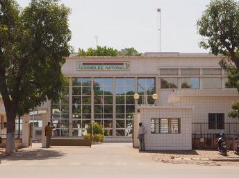 Le siège de l'Assemblée nationale à Ouagadougou, au Burkina Faso. Wikimedia