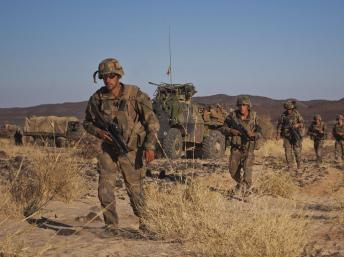 Soldats français dans la vallée de Terz au nord du Mali, le 21 mars 2013. REUTERS/Francois Rihouay