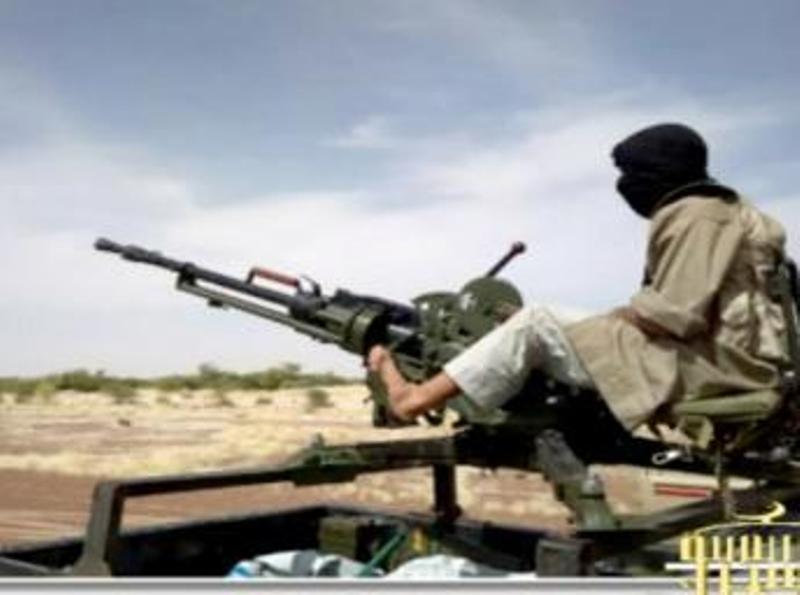 Combattant d'Aqmi, dans le nord du Mali, en janvier 2013. AFP PHOTO / SITE Monitoring Service