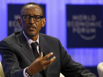 Le président rwandais Paul Kagame au forum économique mondial de Davos, le 24 janvier 2014. REUTERS/Ruben Sprich