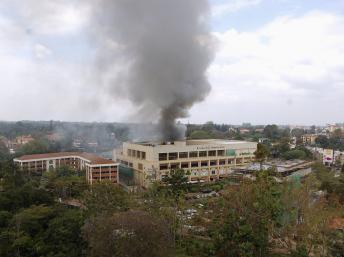 Le centre commercial Westgate où a eu lieu l'attaque terroriste. Nairobi, le 23 septembre 2013. REUTERS/Johnson Mug