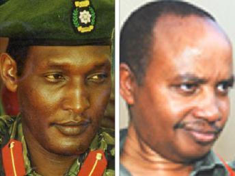 Innocent Kalisa (G), ancien militaire de la garde présidentielle qui sera sur le banc des accusés lors du « procès de la terreur » et Patrick Karegeya, ancien chef des renseignements extérieurs, assassiné en Afrique du Sud.