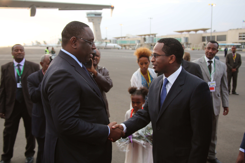 Le Président Sall discute du financement des infrastructures à Addis Abeba