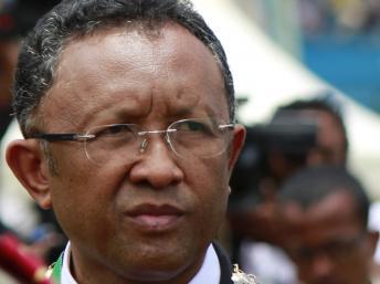 Hery Rajaonarimampianina, le nouveau président malgache, lors de son investiture le 25 janvier à Antananarivo. REUTERS/John Friedrich