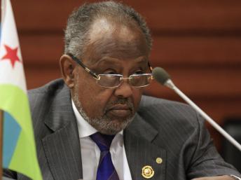Le président djiboutien Ismaïl Omar Guelleh à Addis-Abeba, le 31 janvier 2014. REUTERS/Tiksa Negeri