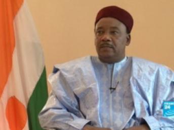 Mahamadou Issoufou, au palais de la présidence à Niamey, au Niger. France 24