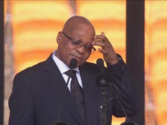 En Afrique du Sud, le président est élu par le Parlement. Et le parti de Jacob Zuma pourrait faire face à une forte opposition. REUTERS/SABC via Reuters TV