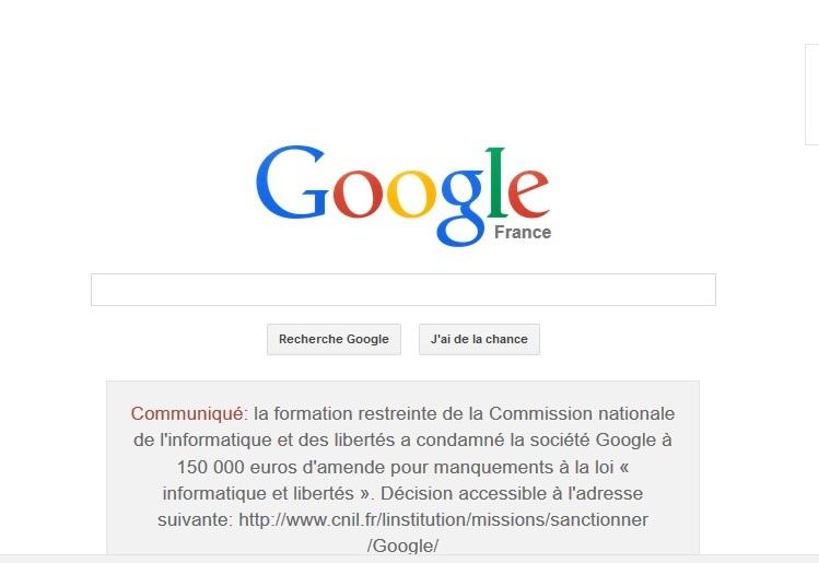 Protection des données personnelles : La CNIL inflige une sanction de 120.000 euros à Google