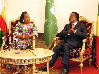Catherine Samba-Panza ne repartira pas de Brazzaville les mains vides
