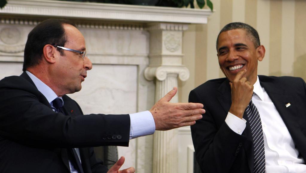 Le président français François Hollande a rencontré Barack Obama à la Maison-Blanche, vendredi 18 mai 2012.