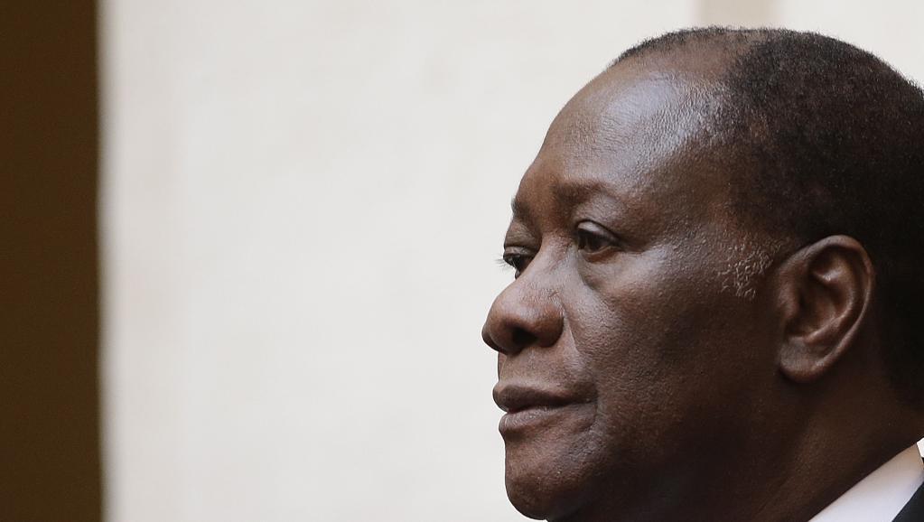 Le président ivoirien, Alassane Ouattara, est en France depuis le 2 février. REUTERS/Tony Gentile