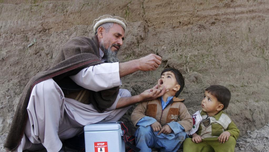 Une campagne de vaccination contre la poliomyélite en Afghanistan, le 26 janvier 2014.