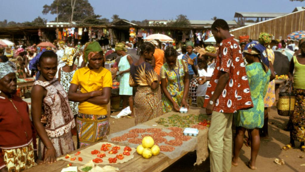 Un marché de Libreville. Getty Images