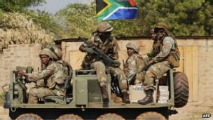 Les forces de la Misca à Bangui