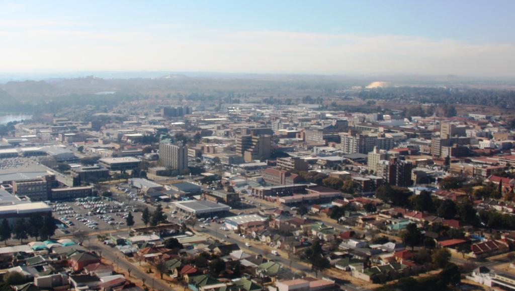 Vue du centre de Benoni, en Afrique du Sud.