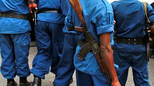 Des éléments de la police à Bujumbura